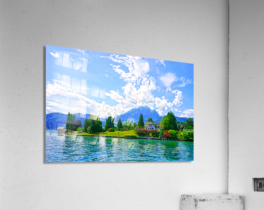 Perfect Day on the shores of Lake Lucerne Switzerland  Acrylic Print