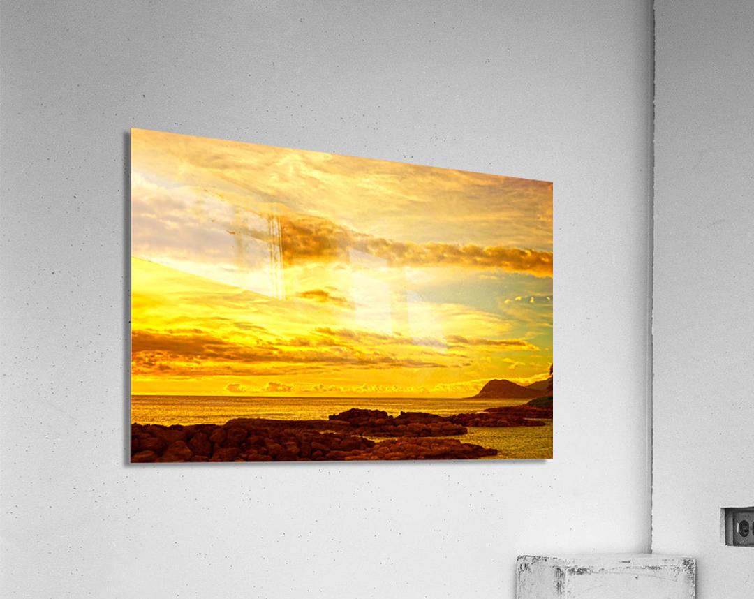 Sunset in Paradise   South Seas  Acrylic Print