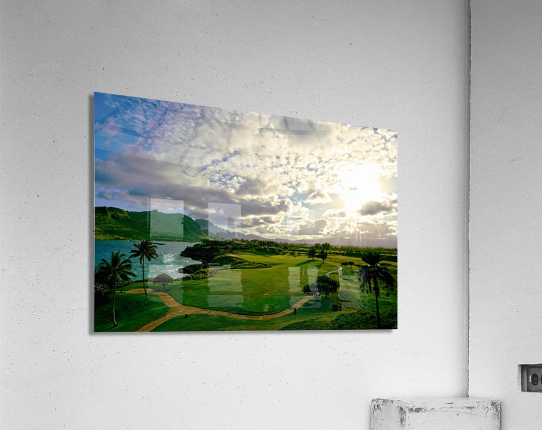 Sunset over Kukii Point on the Island of Kauai in Hawaii  Acrylic Print
