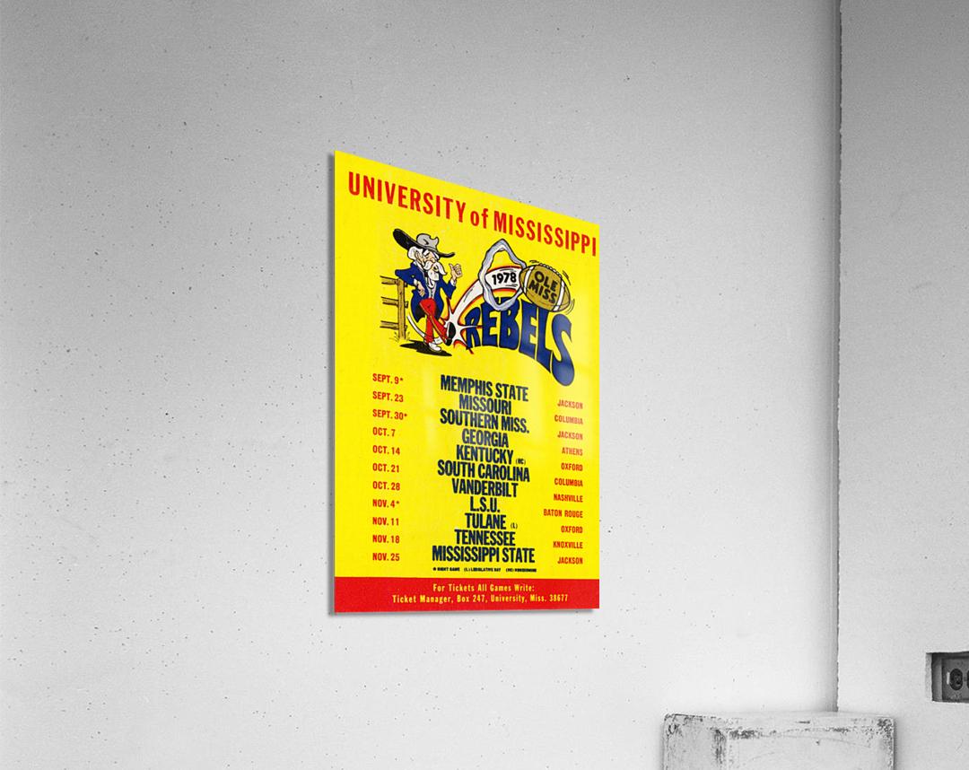 1978 Ole Miss Football Schedule Art  Acrylic Print