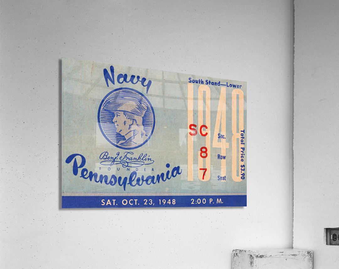 1948 Penn Quakers vs. Navy Midshipmen  Acrylic Print