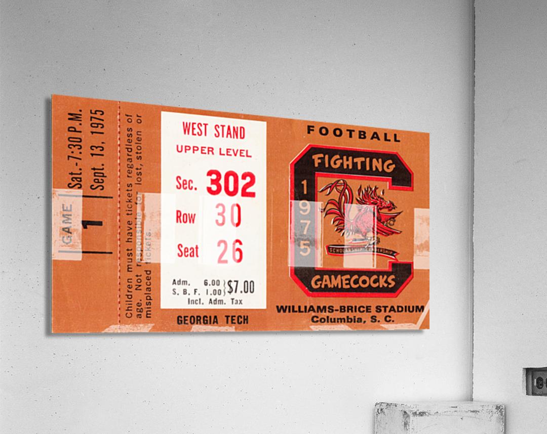 1975 South Carolina Gamecocks vs. Georgia Tech  Acrylic Print