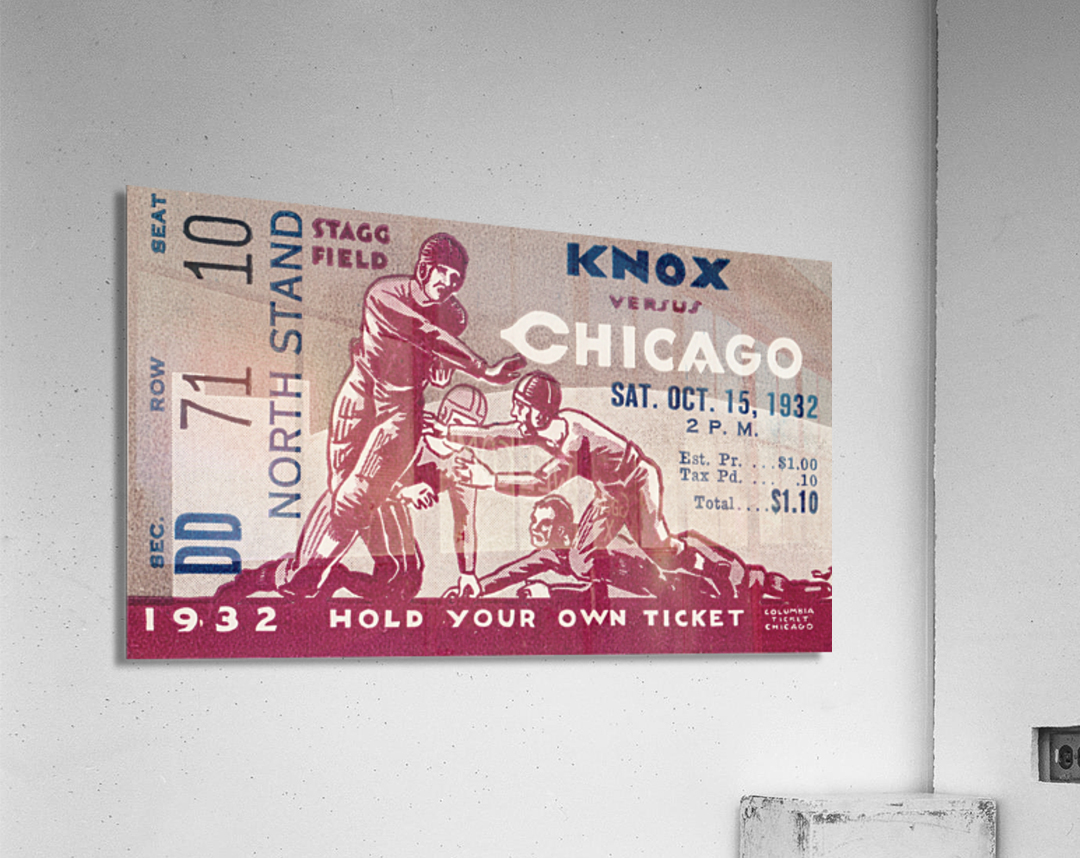 1932 Knox College vs. University of Chicago  Acrylic Print