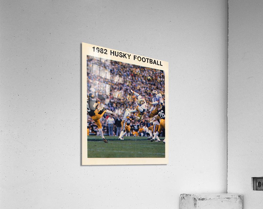 1982 Washington Husky Football Poster  Acrylic Print
