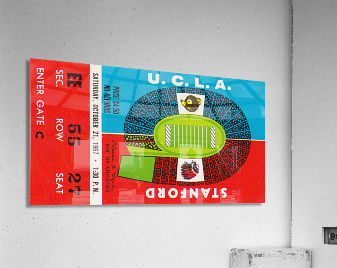 1967 UCLA Bruins vs. Stanford Indians  Acrylic Print
