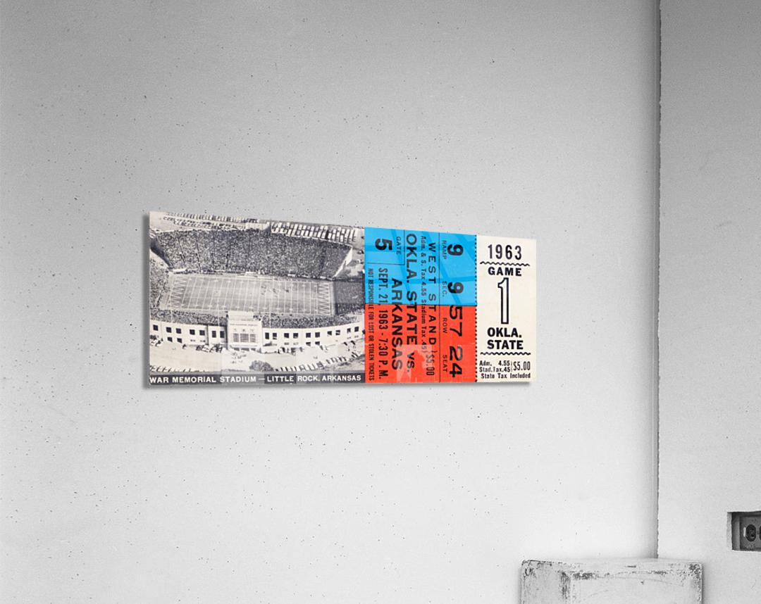 1963 Arkansas Razorbacks vs. Oklahoma State Cowboys  Acrylic Print