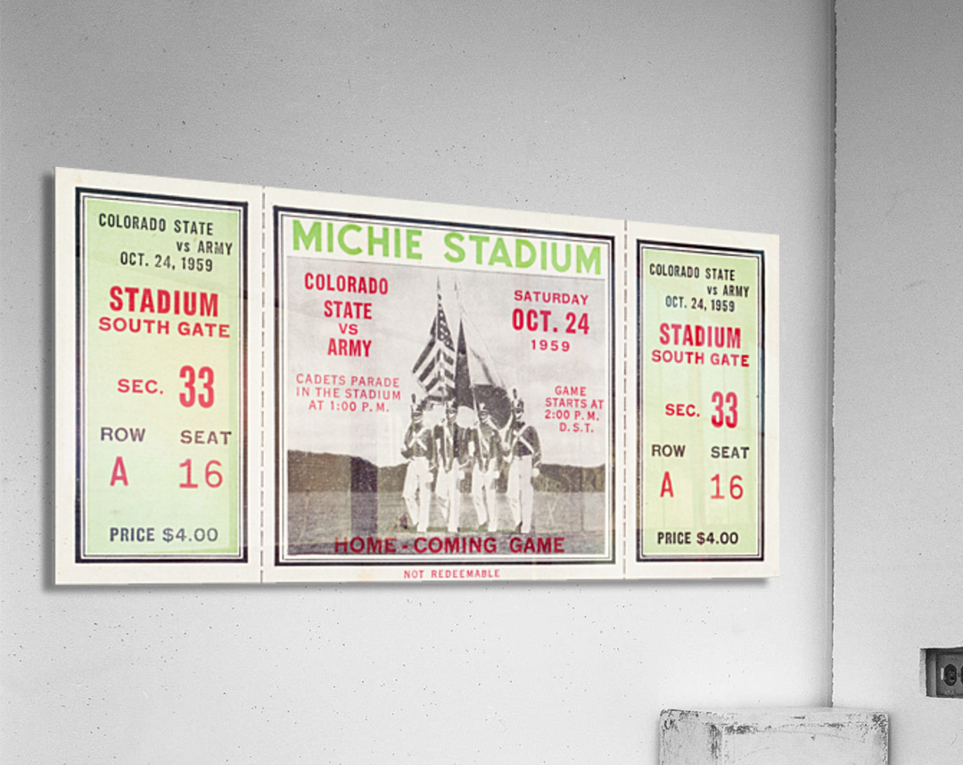 1959 Colorado State Rams vs. Army Cadets  Acrylic Print