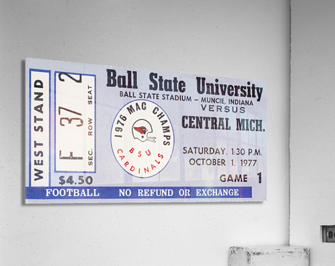 1977 Ball State Cardinals vs. Central Michigan Chippewas  Acrylic Print