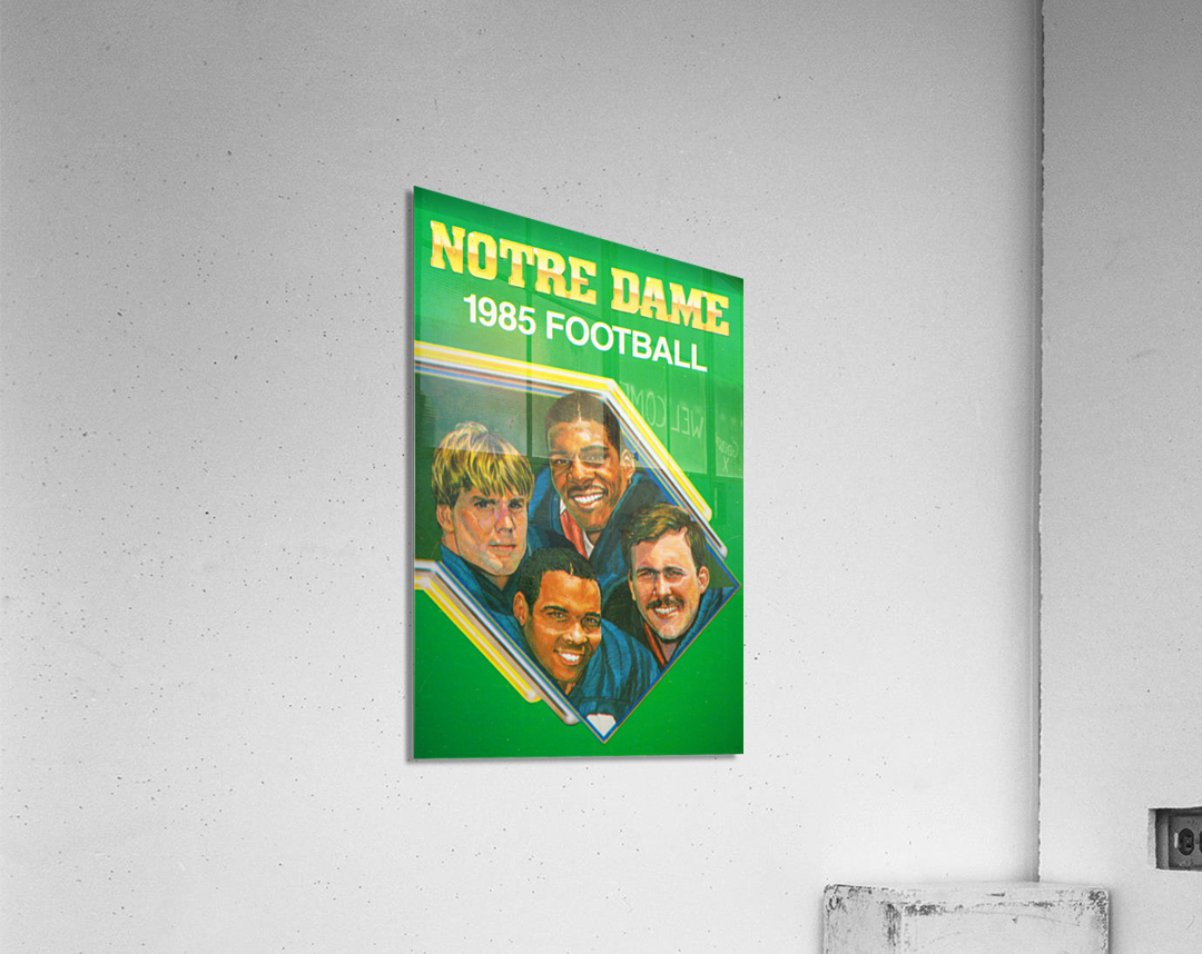 1985 Notre Dame Retro Football Poster  Acrylic Print