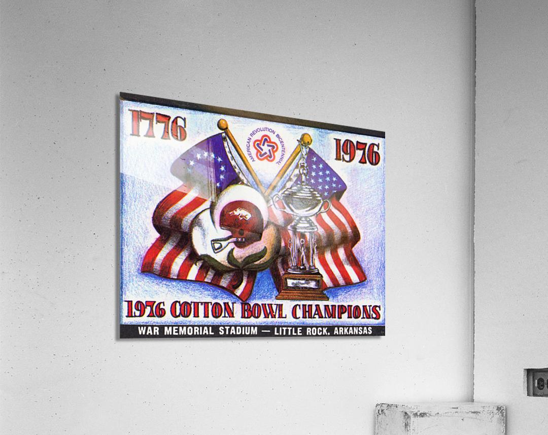 1976 Arkansas Razorbacks Ticket Stub Art  Acrylic Print