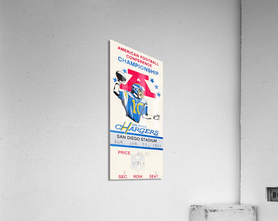 1981 Oakland Raiders vs. San Diego Chargers   Acrylic Print
