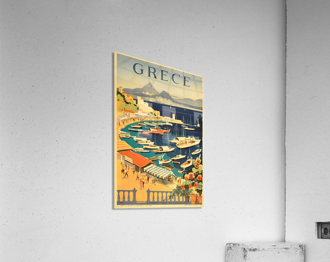 Greece original vintage travel poster  Acrylic Print