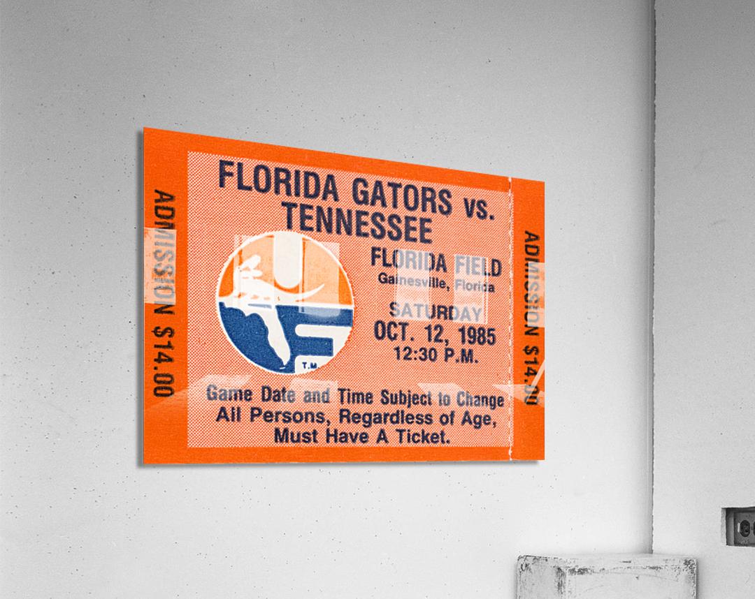 1985 Florida Gators vs. Tennessee Vols  Acrylic Print