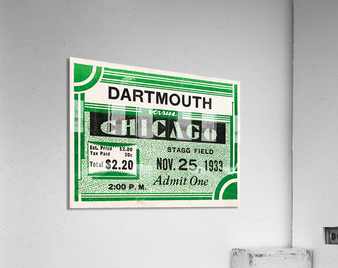 1933 Dartmouth Indians vs. Chicago Maroons  Acrylic Print