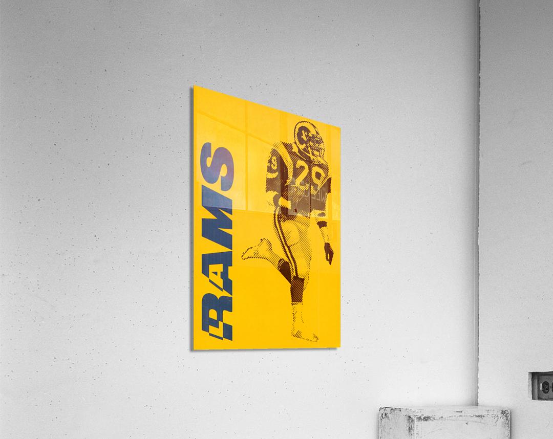 1986 LA Rams Football Art  Acrylic Print