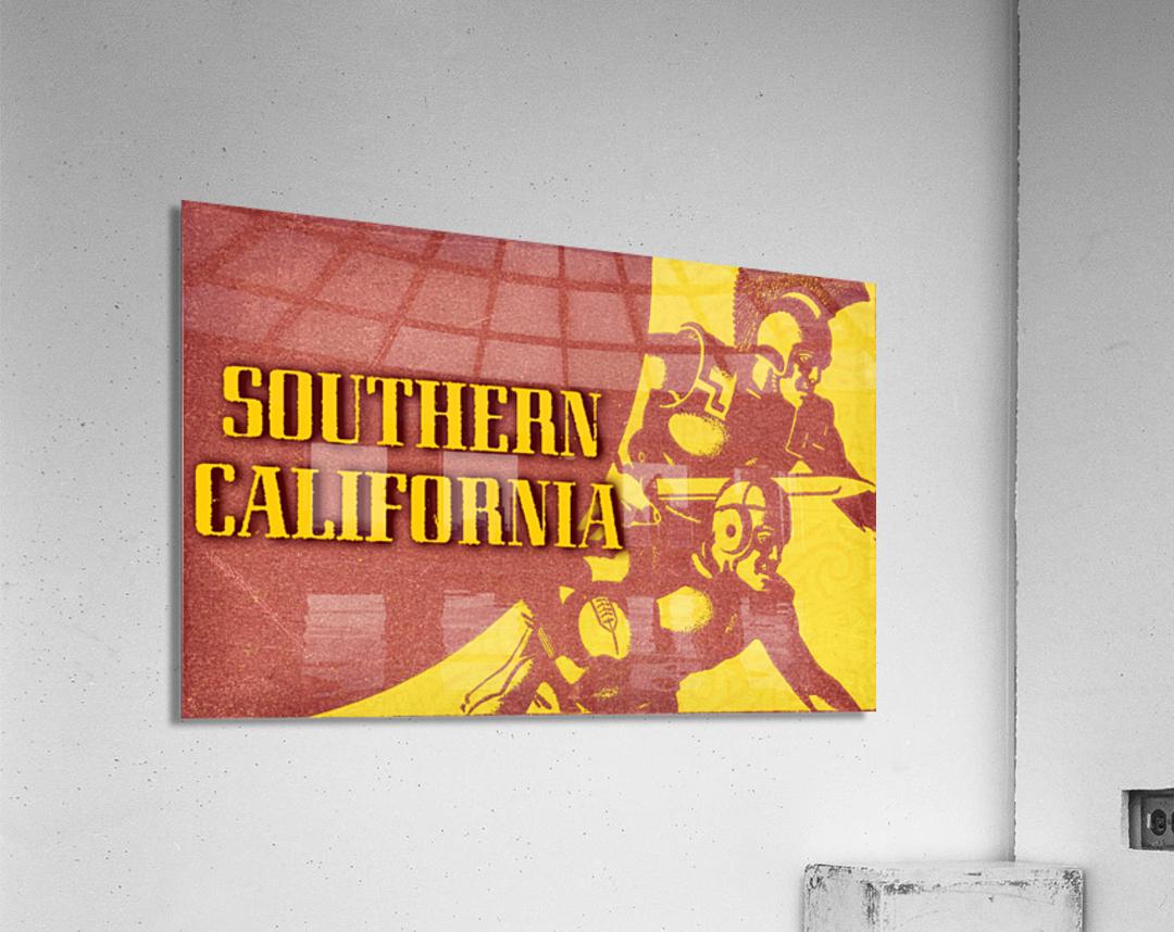 1936 Southern California Football Ticket Remix  Acrylic Print