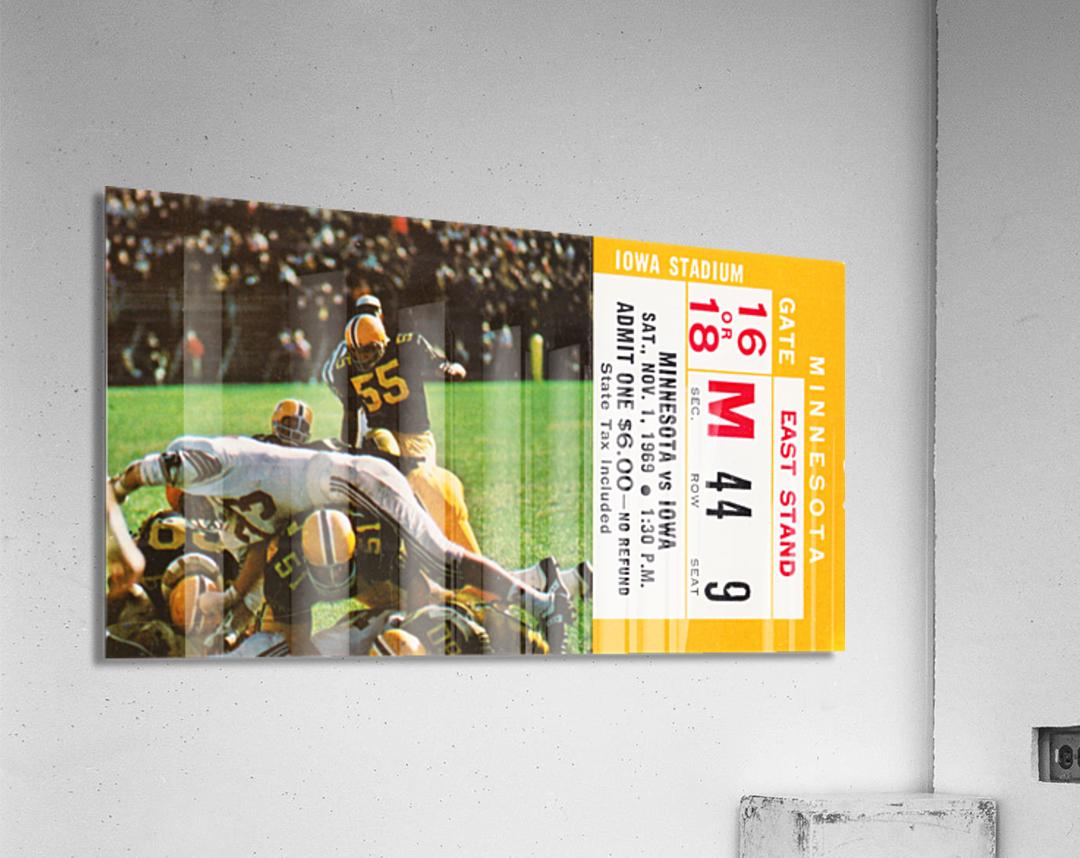 1969 Iowa Hawkeyes vs. Minnesota Golden Gophers  Acrylic Print