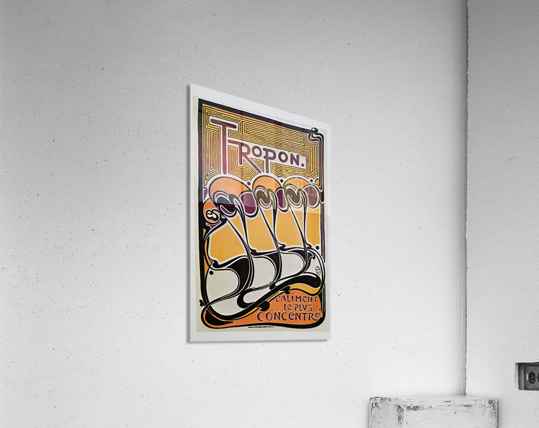 Vintage poster for Tropon food concentrate, 1899  Acrylic Print