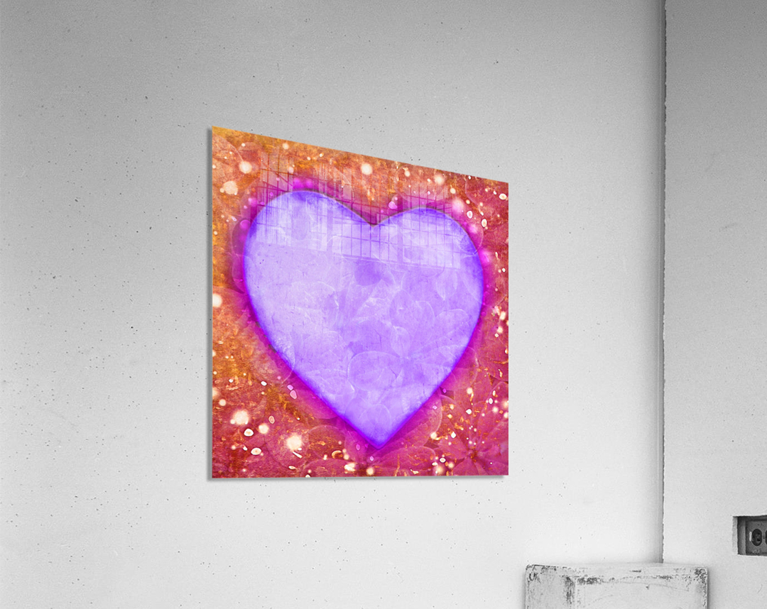 Vibrant Love Digital Art Collage  Acrylic Print
