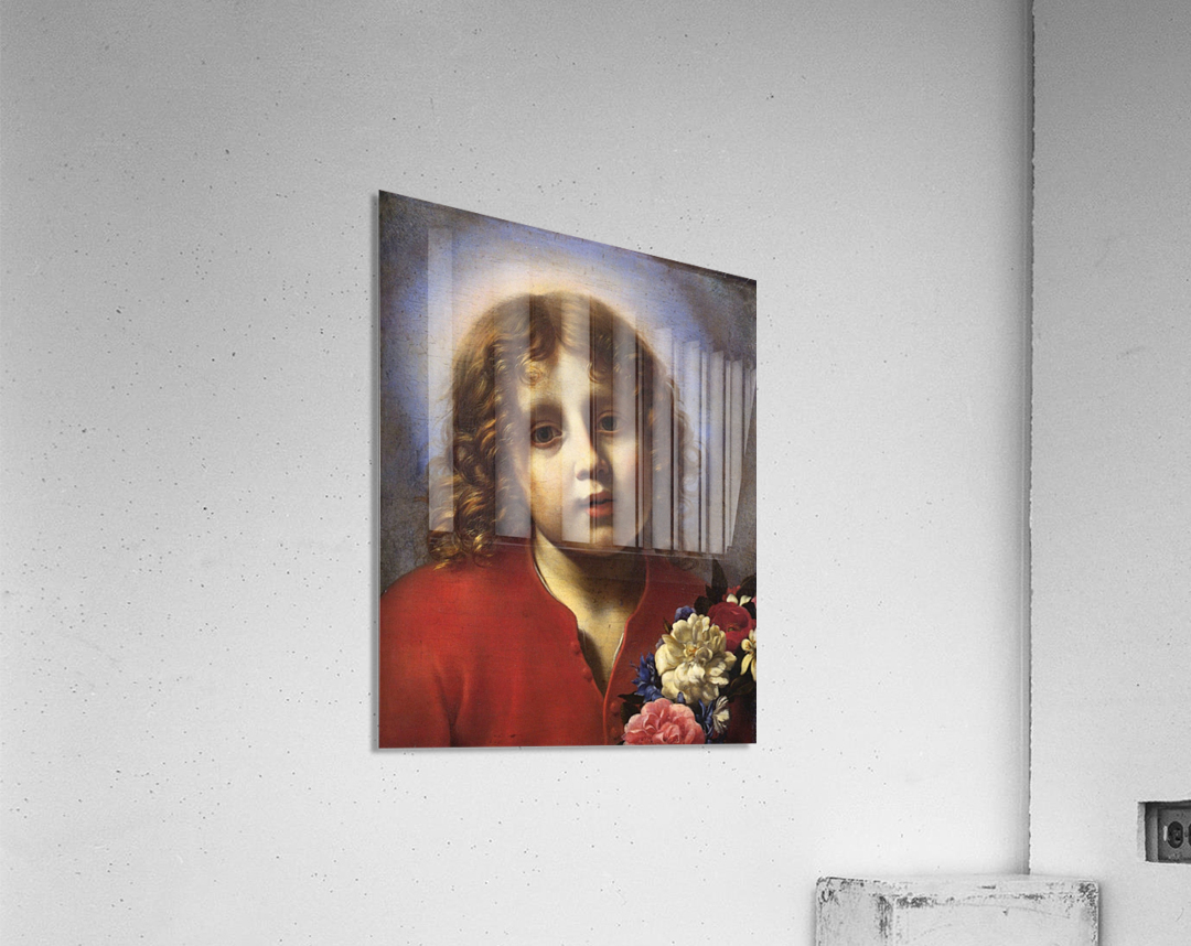 Child with flowers  Acrylic Print