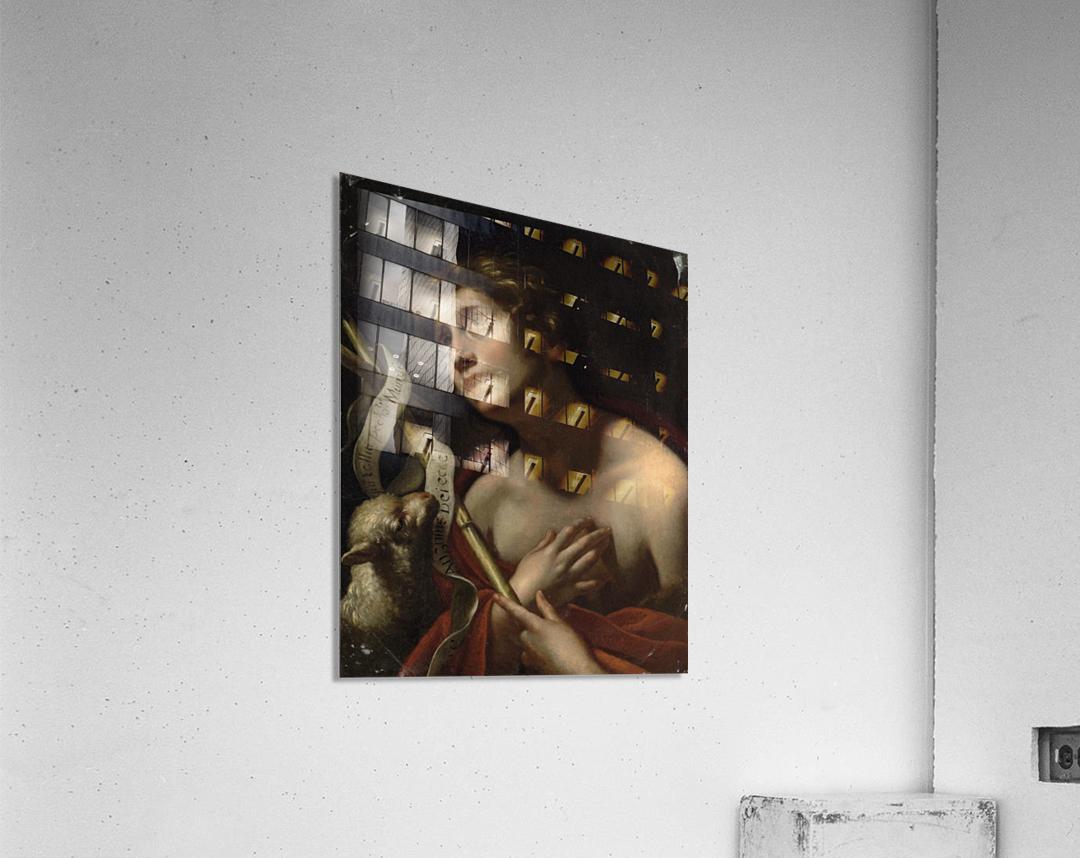 Saint John the Baptist with the Lamb of God  Acrylic Print