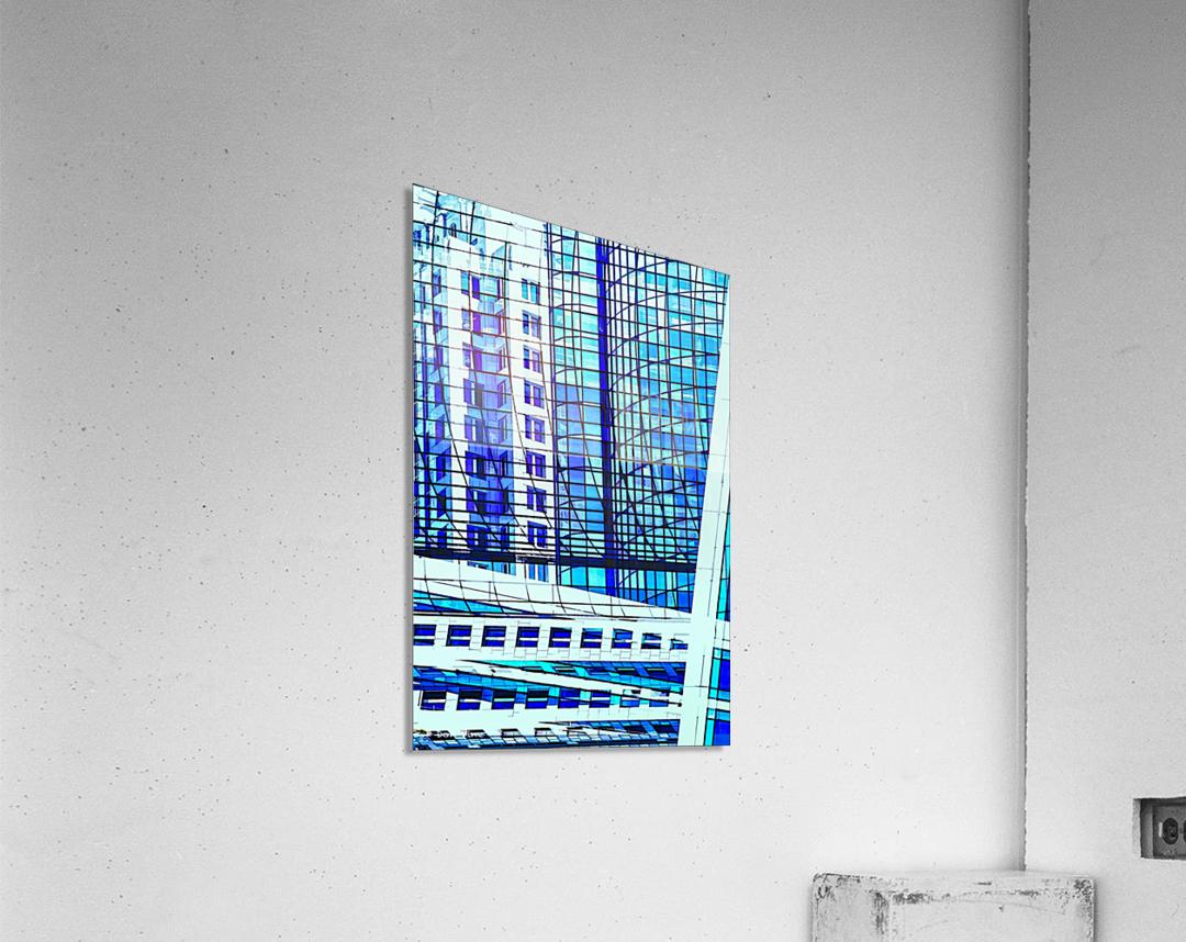 Glass and Concrete Towers_130515_14_183 HXSCYV  Acrylic Print
