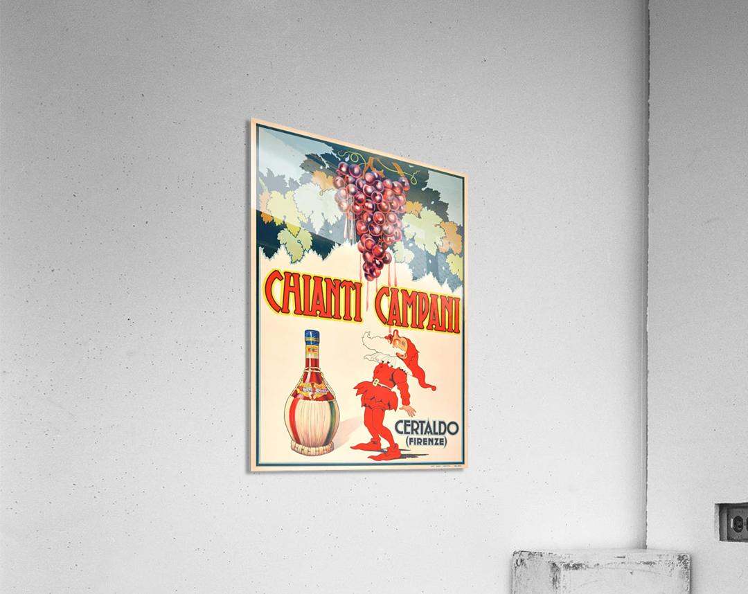 Original Vintage 1940 Advertising Poster For Chianti Campani  Acrylic Print
