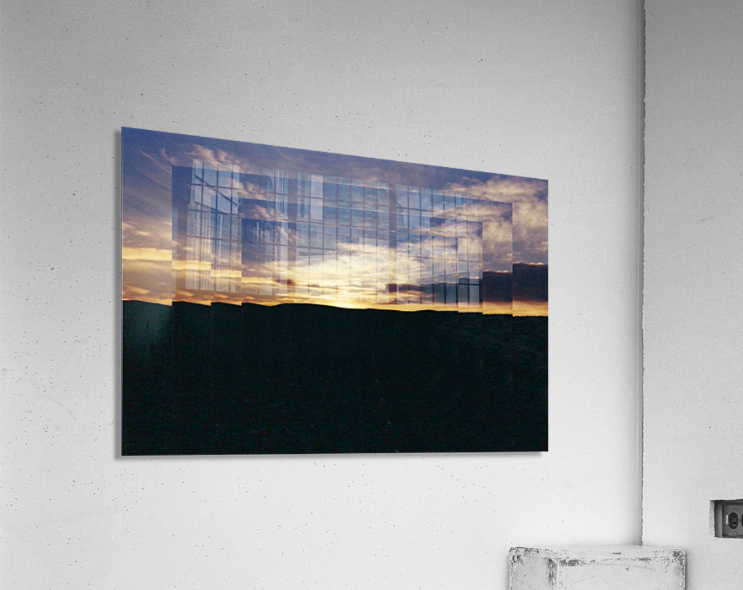 A  Manipulated Sunset  Acrylic Print