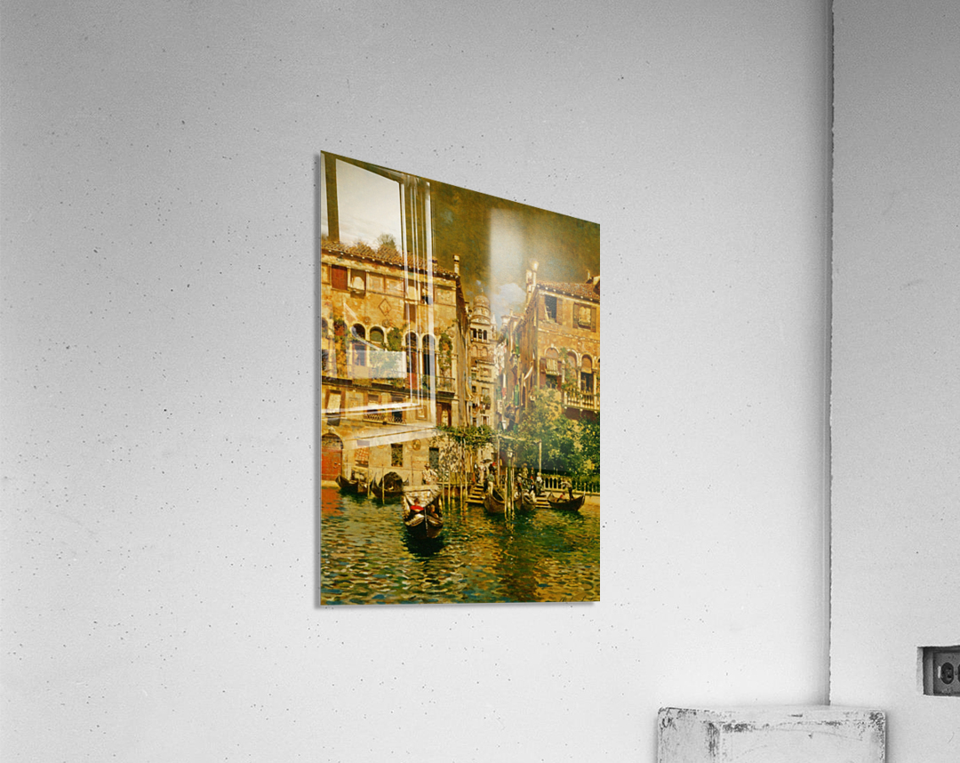 Leaving a Residence on the Grand Canal  Acrylic Print
