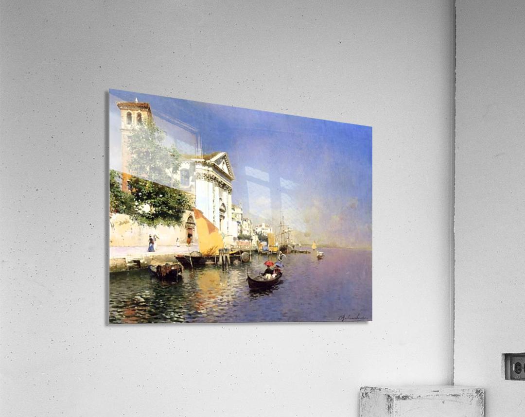 Entering a Venetian Canal  Impression acrylique