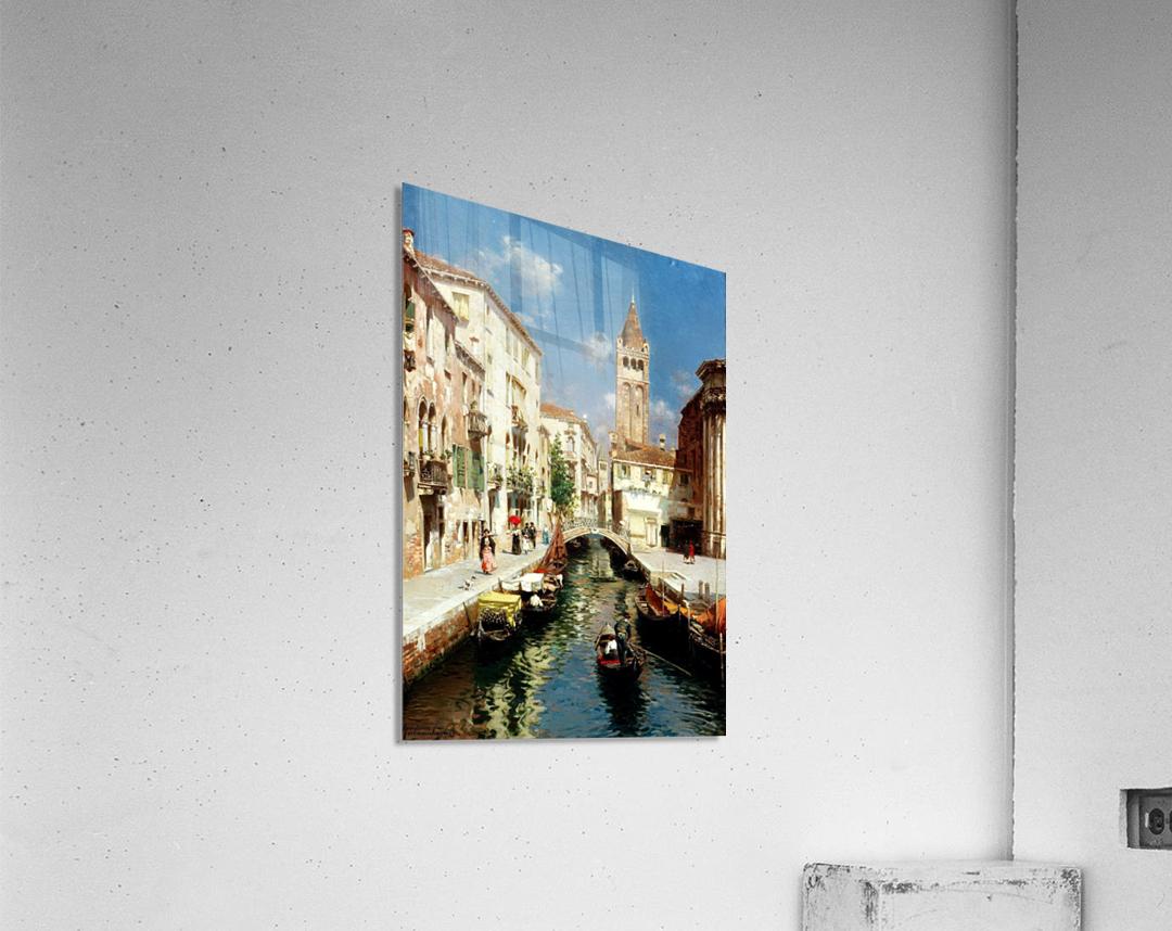 Along Venetian canal  Impression acrylique