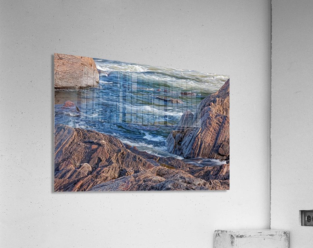 Rocky River Edge  Acrylic Print