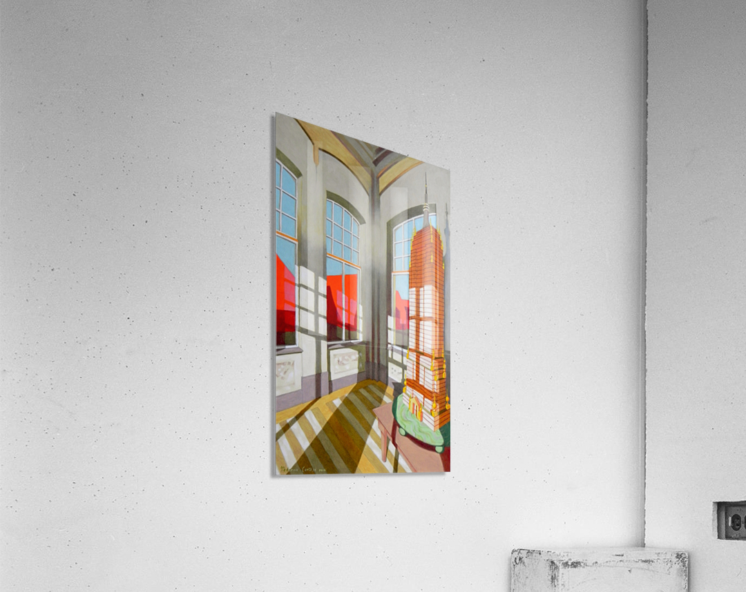 abandoned room with the empire state building  Acrylic Print