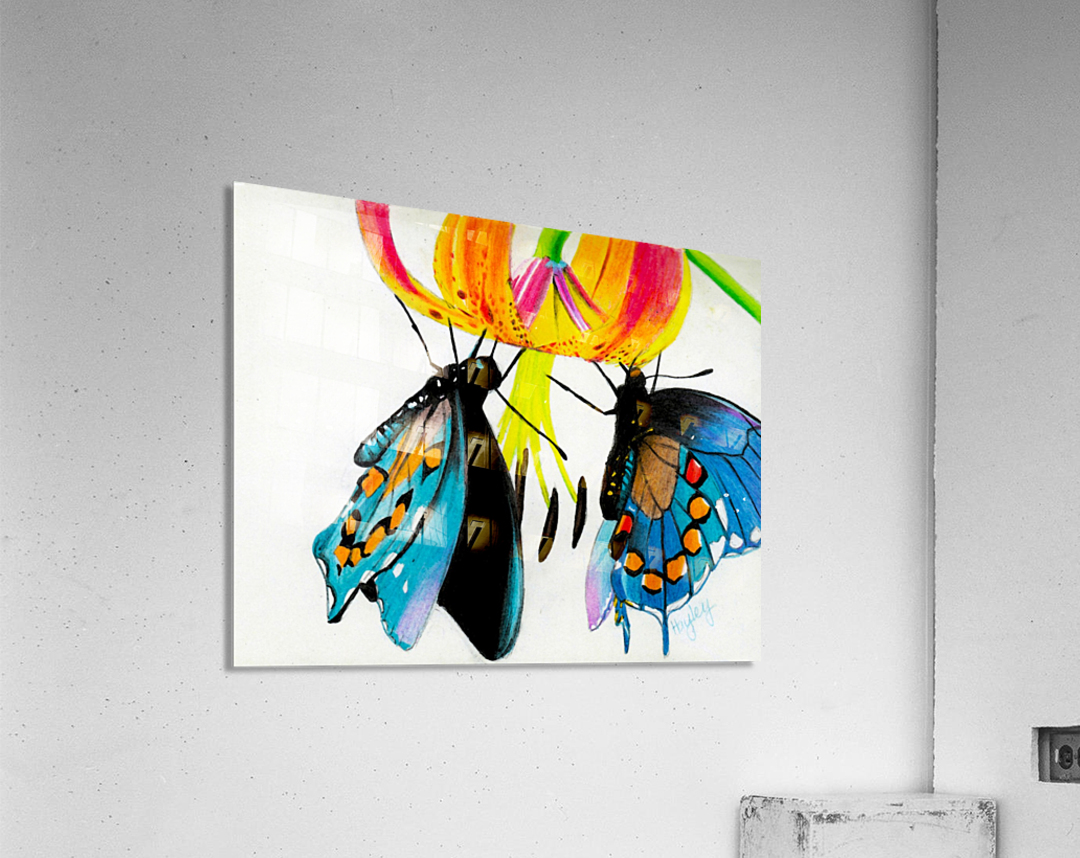 Butterflies and Lily  Acrylic Print
