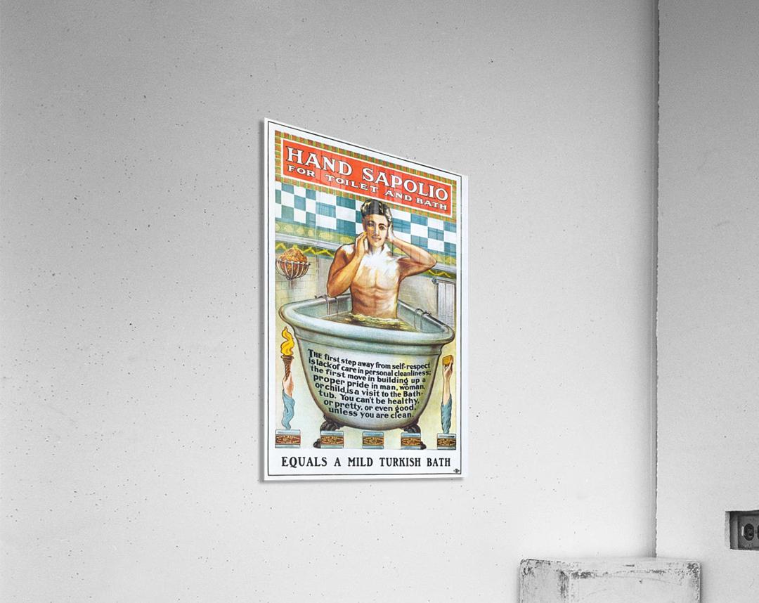 Sapolio Soap advertising poster  Acrylic Print