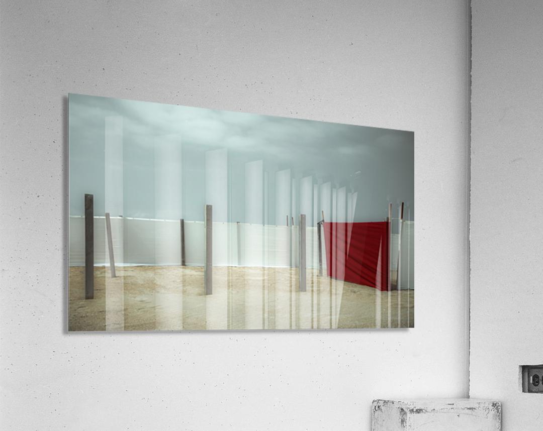 Red canvas  Acrylic Print