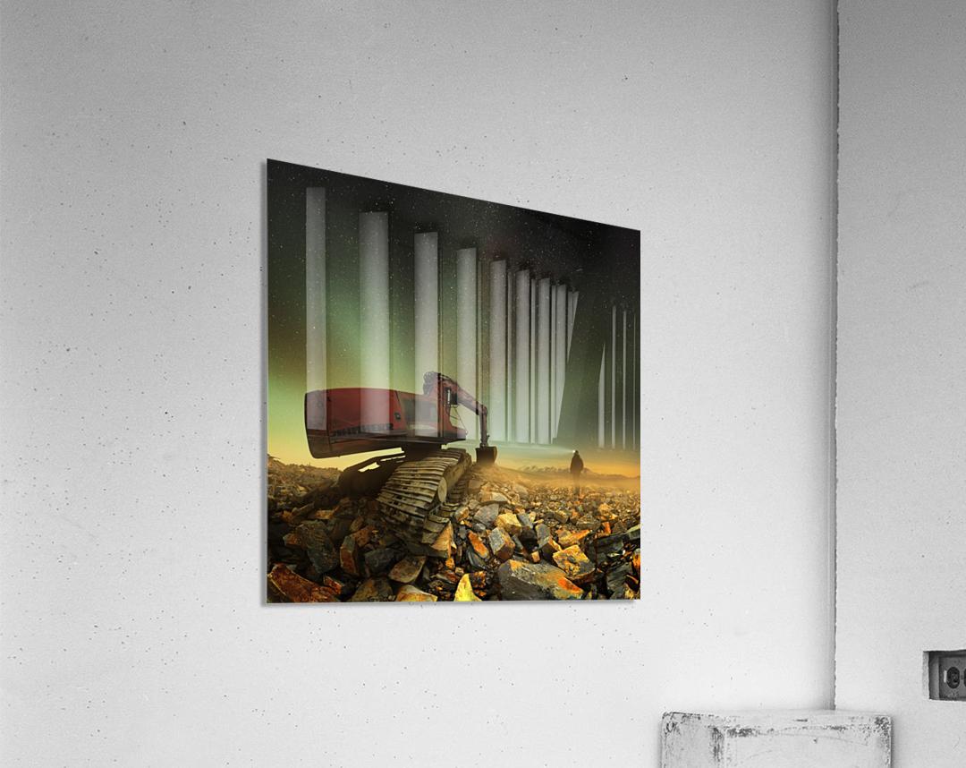 Goldherer  Acrylic Print