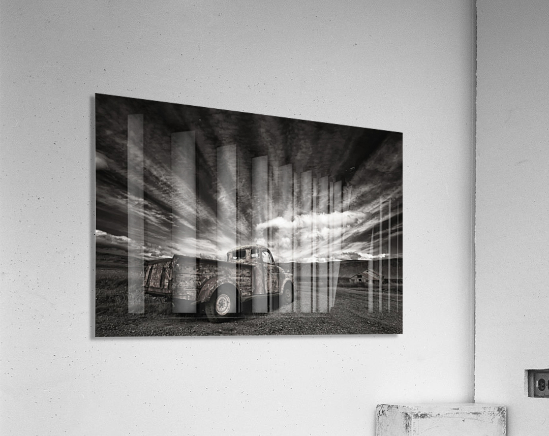 Old Truck (mono)  Acrylic Print