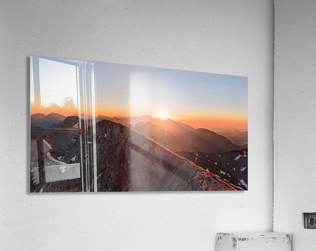 Running on the ridge  Acrylic Print