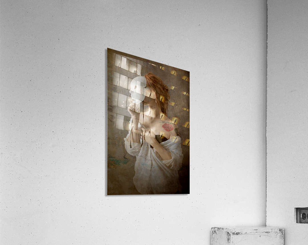 seeing through the mask  Acrylic Print