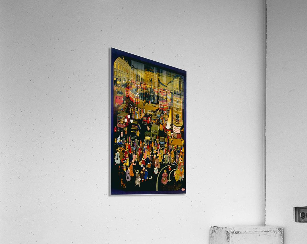London metro undergroud poster  Acrylic Print