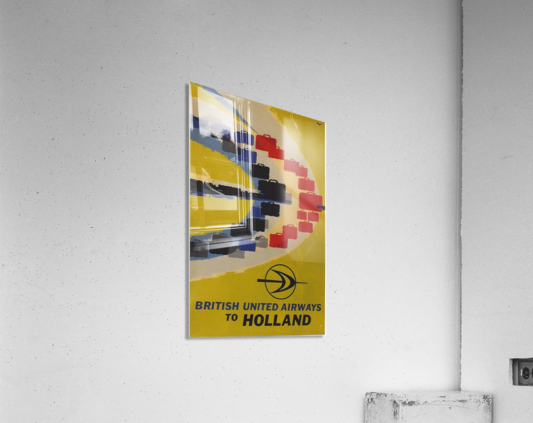 British United Airlines to Holland travel poster  Acrylic Print