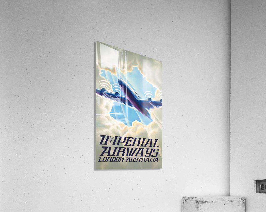 Imperial Airways London - Australia vintage travel poster  Acrylic Print