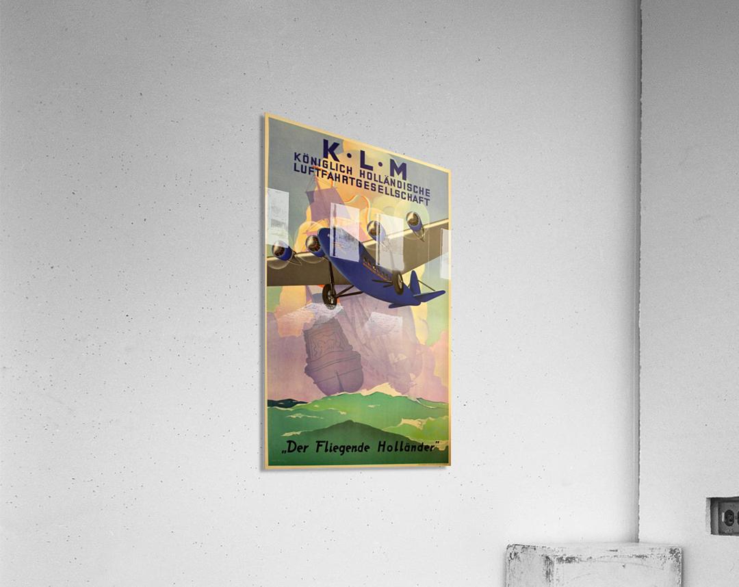 Original Vintage 1933 KLM Travel Advertising Poster  Acrylic Print