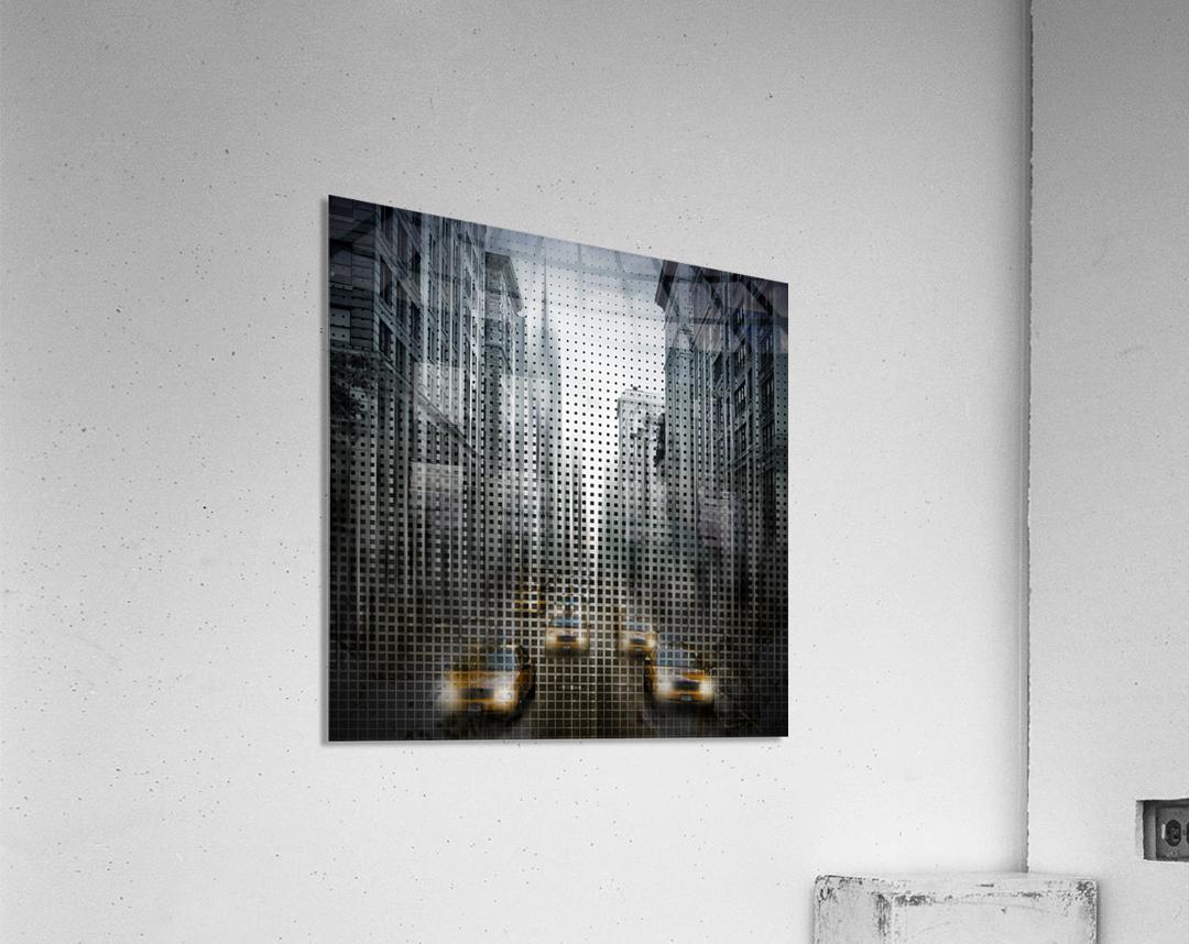 Graphic Art NYC 5th Avenue Traffic V  Acrylic Print