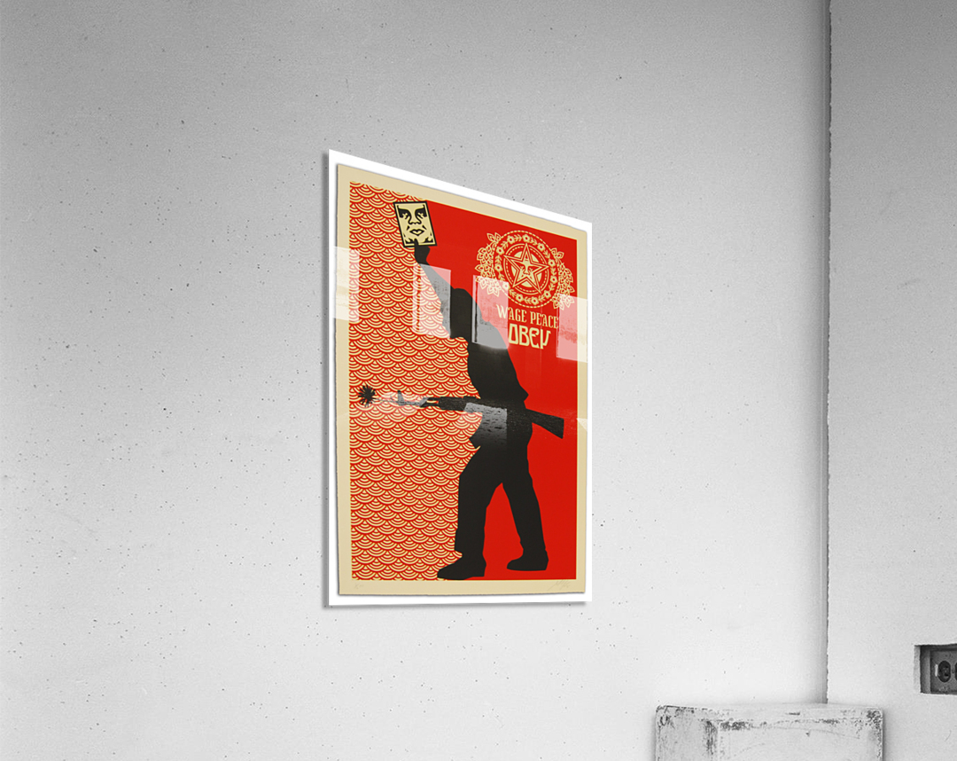 Wage Peace Obey poster  Acrylic Print