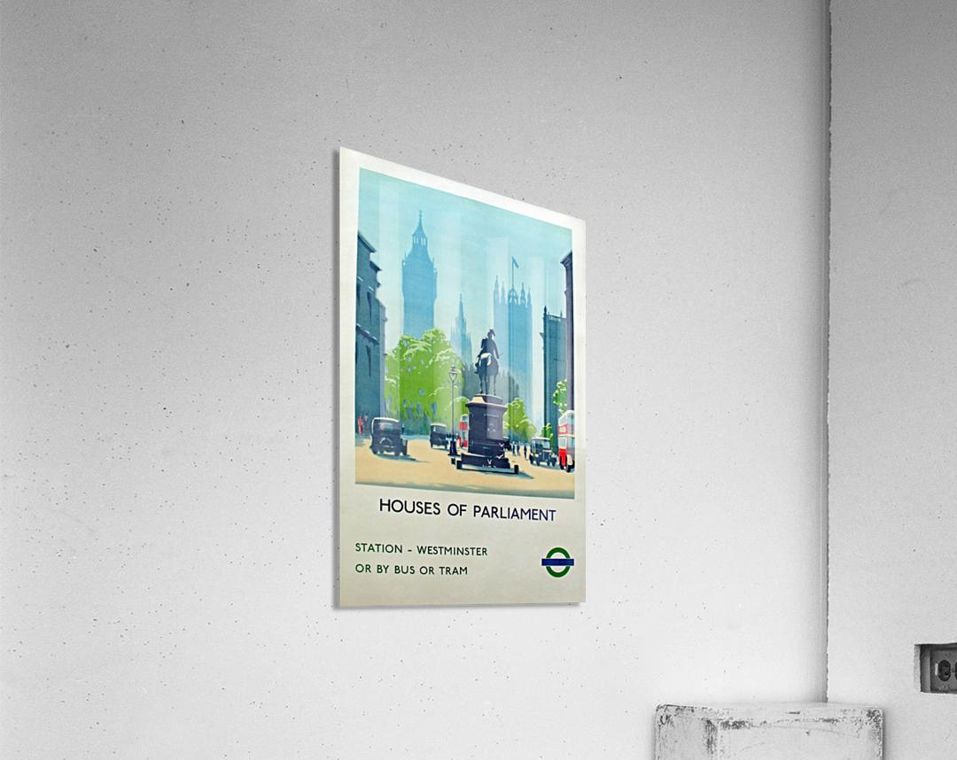 London Underground Houses of Parliament  Acrylic Print