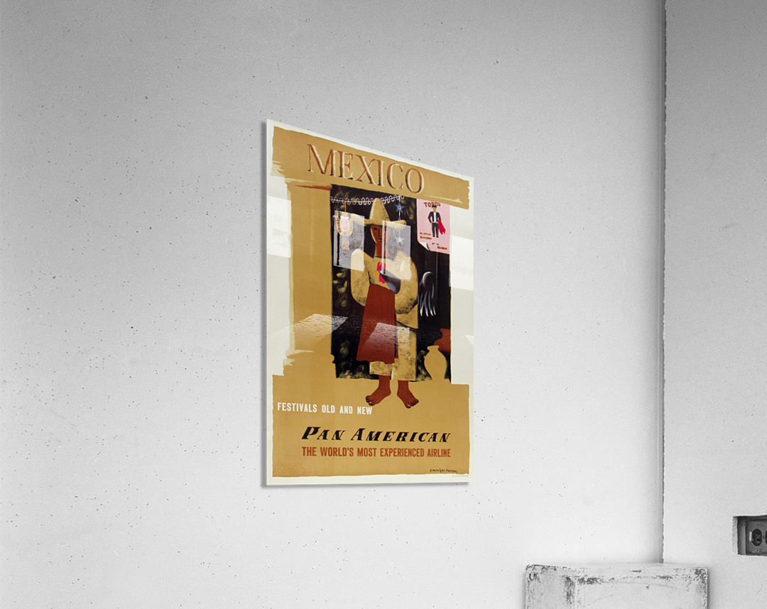 Mexico Pan American Poster  Acrylic Print