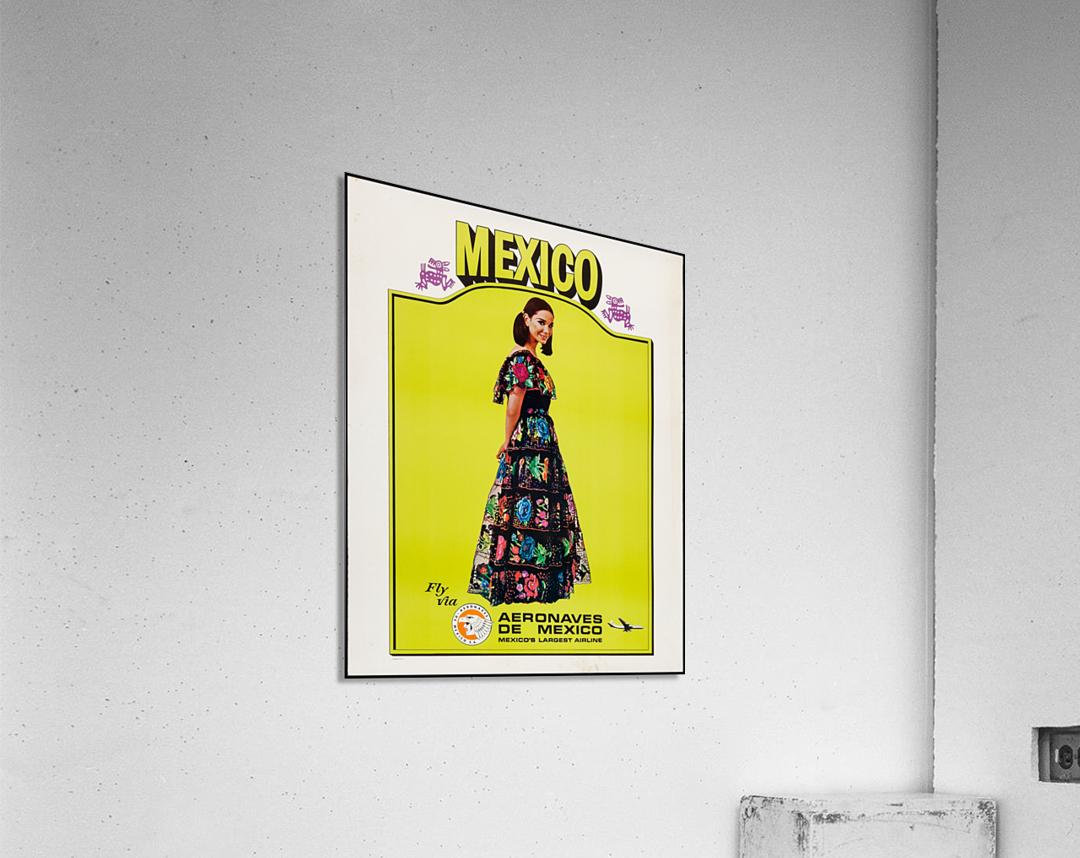 Aeronaves de Mexico Poster  Acrylic Print