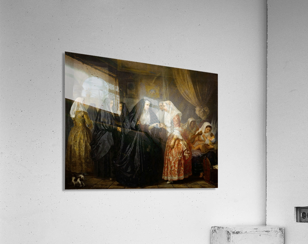 Maltese ladies paying a visit  Acrylic Print